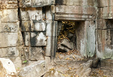 Detail of window, Preah Khan, Cambodia Stock Photo
