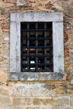 Detail of a window at the Saint George Castle Stock Photography