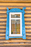 Detail of a window of a traditional wooden house in Rostov,  Russia Royalty Free Stock Images