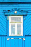 Detail of a window of a traditional wooden house, Suzdal, Golden ring,  Russia Stock Image