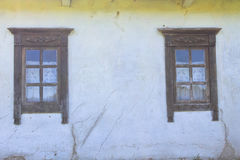 Detail of window of  ukrainian ethnic rural house Stock Photos