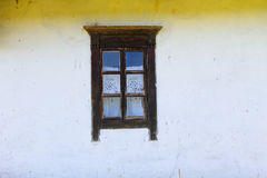 Detail of window of  ukrainian ethnic rural house Royalty Free Stock Photos
