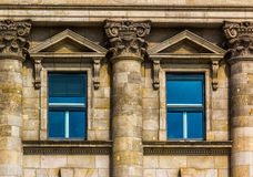 Detail of Windows. Europe. Detail of closed windows on an European building Royalty Free Stock Images