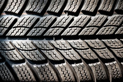 Detail of a winter tire tread Stock Images