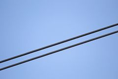 Detail of wire from power cable Royalty Free Stock Photo