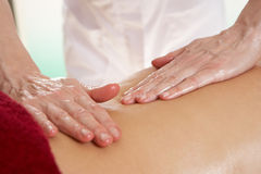 Detail woman having back massage Stock Photography