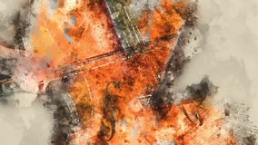 Detail of a woman playing cello art painting artprint. Detail of a woman playing a cello musician concert stock video