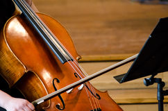 Detail of a woman playing cello Stock Photography