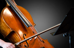 Detail of a woman playing cello Royalty Free Stock Photography