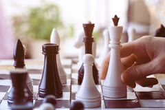 A chess game Royalty Free Stock Image