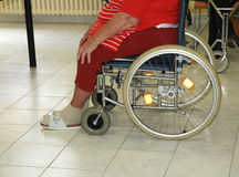 Detail of woman in wheelchair Stock Photography
