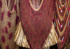 Detail of women`s clothing Dani tribe. Stock Images