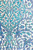 Detail of wonderful painted tiles in Topkapi Palace Royalty Free Stock Images