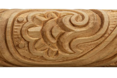 Detail of wood carving Stock Photo