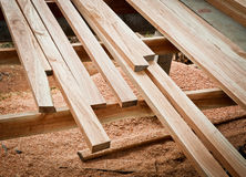 Detail of wood floor architecture Royalty Free Stock Image