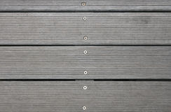Outdoor deck. A detail of wood flooring outdoor deck royalty free stock image