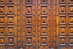 Detail of a wood house door Royalty Free Stock Photo
