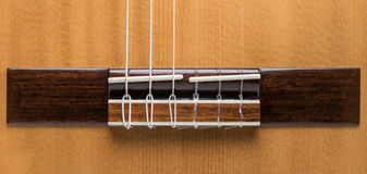 Detail of wooden acoustic Classic Guitar Royalty Free Stock Photos