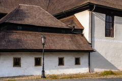 Detail of Wooden articular protestant church in Kezmarok, Slovak. Wooden articular protestant church built in 1717 in Kezmarok, Spis region, Slovakia. It is Stock Images