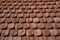 Detail on a wooden Church. In Scandinavia Stock Photography