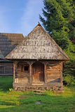 Detail of an wooden cottage Royalty Free Stock Photo
