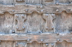 Detail of wooden door Stock Photo