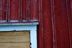 Detail of wooden door corner Royalty Free Stock Image