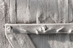 Detail of wooden door frosted Stock Image