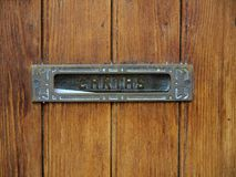 Detail of a wooden door Stock Image