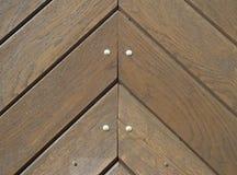 Detail of wooden door Royalty Free Stock Photos