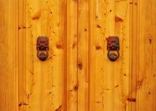 Detail of a wooden door Stock Image