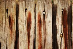 Detail of a wooden fence Royalty Free Stock Images