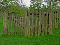 Detail of wooden fence, texture and background interest. Stock Image