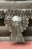 Detail of a wooden house Stock Images