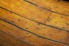 Detail of wooden hull boat royalty free stock image