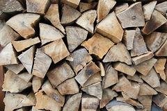 Detail of wooden logs Royalty Free Stock Photos
