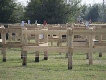 Equestrian event marathon maze Stock Photo