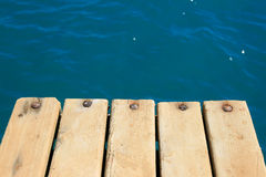 Detail of wooden pier Royalty Free Stock Image