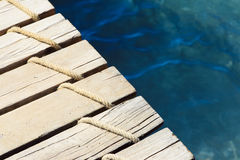 Detail of wooden pier Royalty Free Stock Photography