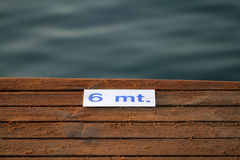 Detail of wooden pier Stock Images