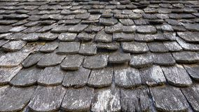 Detail of wooden roof Stock Images