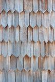 Detail of wooden shingle. Detail of protective wooden shingle on the roof Royalty Free Stock Photography