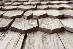 Detail of wooden shingle Royalty Free Stock Image
