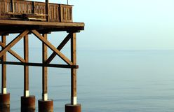 Detail of a wooden stilt house on the seashore Royalty Free Stock Photography