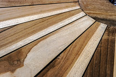 Detail of a wooden table Royalty Free Stock Photos