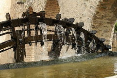 Detail of wooden waterwheels in Hamah in Syria Royalty Free Stock Photo