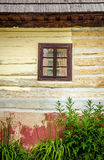 Detail of wooden window on old traditional house Royalty Free Stock Photography