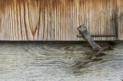 Detail of wooden window shutter Royalty Free Stock Photo