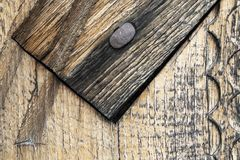 A Detail of Woodwork. A close up detail of woodwork showing the natural wood texture stock photo