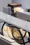 Detail of woodworking machine Royalty Free Stock Images